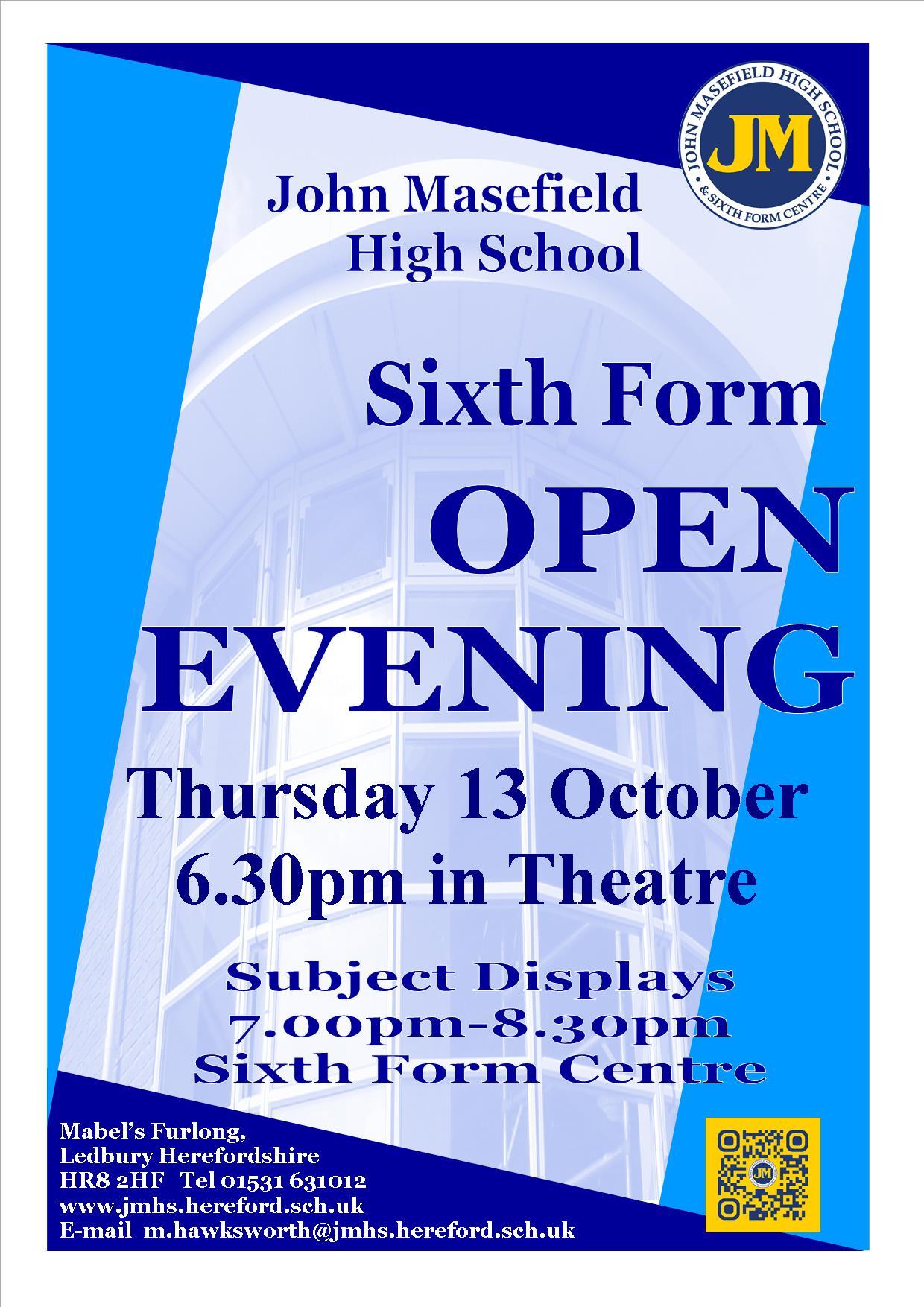 open-evening-poster